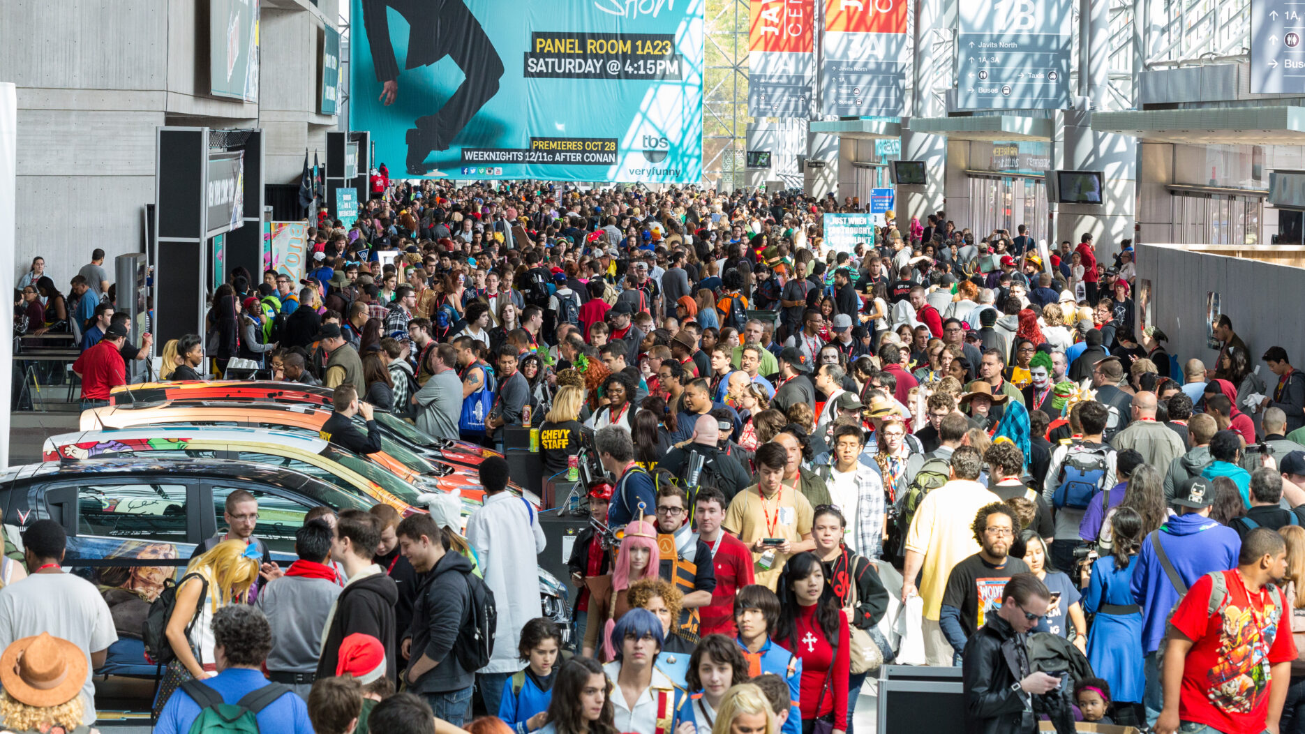 New York Comic Con crowds